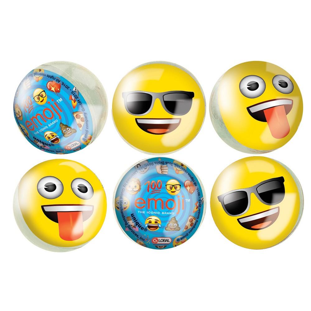 6ct Emoji Bounce Balls, Party Favor