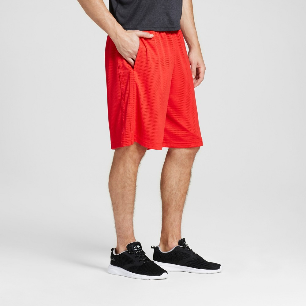 Mens Mesh Shorts - C9 Champion Scarlet Red L
