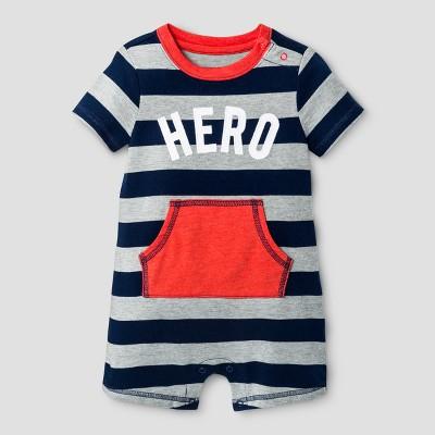 Baby Boys' Hero Romper - Cat & Jack™ Orange NB