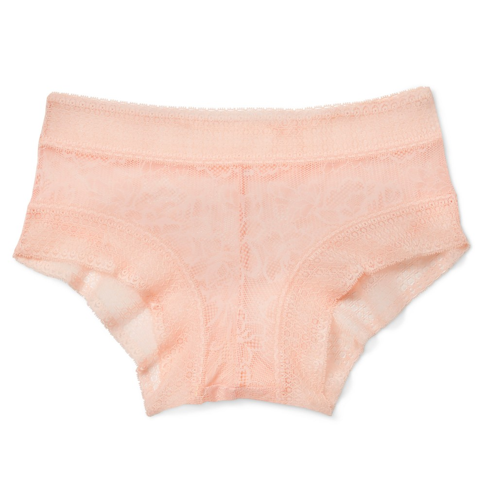 Womens All Over Lace Hipster - Peach Divine XS