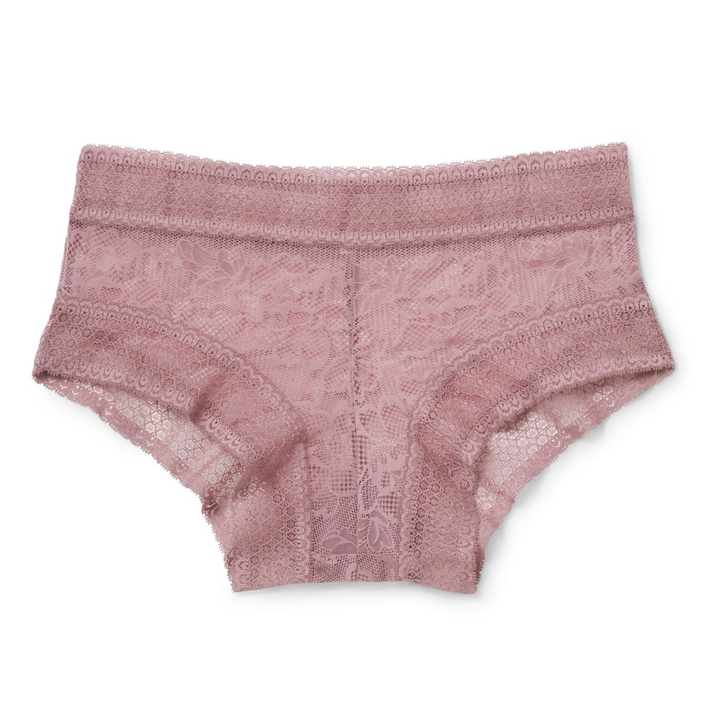 Womens All Over Lace Hipster - Blackberry Cream XS