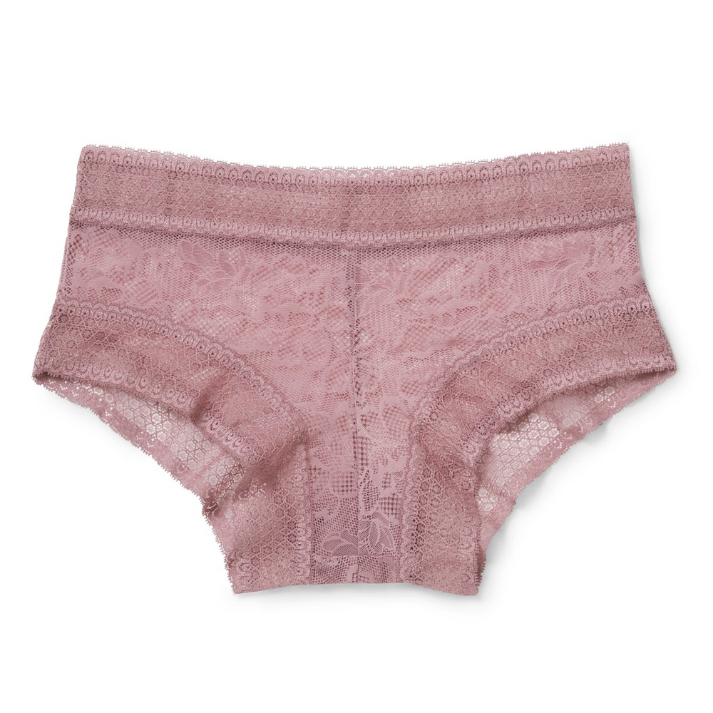 Womens All Over Lace Hipster - Blackberry Cream S