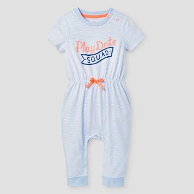 Baby Girls' Playdate Romper - Cat & Jack™ Blue 3-6 Months