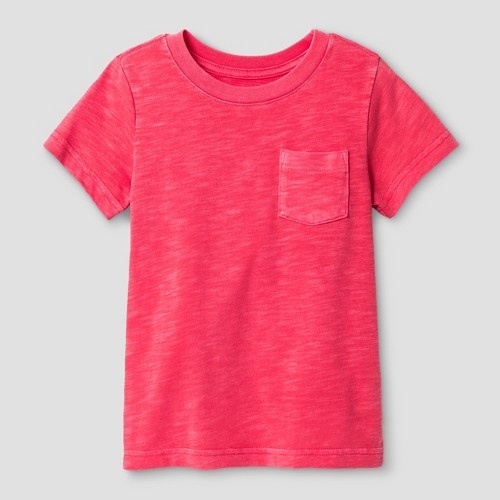 Toddler Boys' T-Shirt Cat & Jack Washed Red 4T, Toddler Boy's