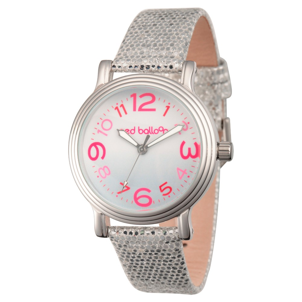Womens Red Balloon Silver Vintage Alloy Watch - Silver