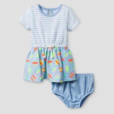 Baby Girls' A-Line Dress Cat & Jack™ - Blue Print Mix 0-3 Months