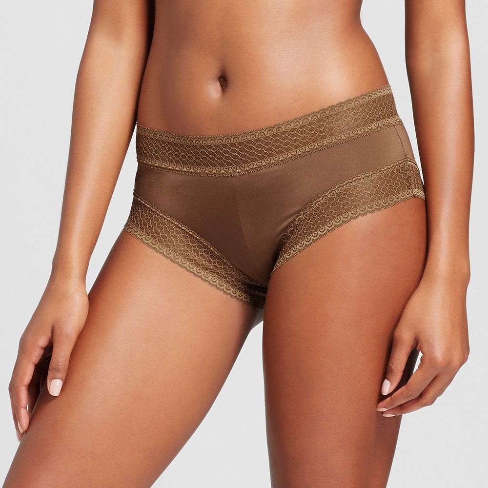 Womens Micro Lace Hipster - Cocoa (Brown) M