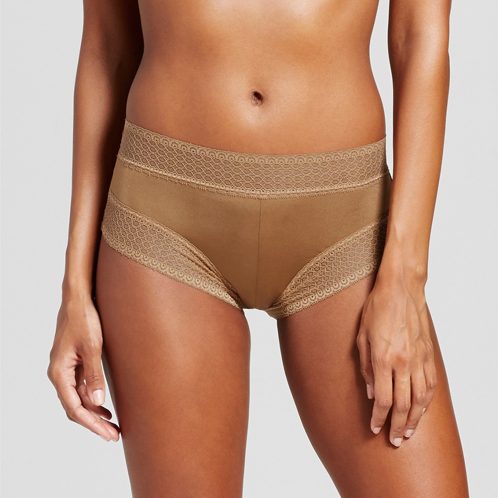Womens Micro Lace Hipster - Caramel S
