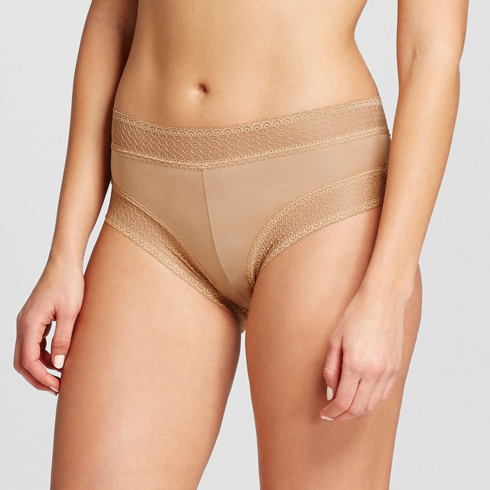 Womens Micro Lace Hipster - Honey Beige L
