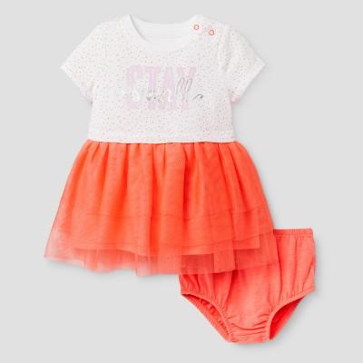 Baby Girls' T-Shirt Tutu A-Line Dress Cat & Jack™ - Sunrise Coral NB