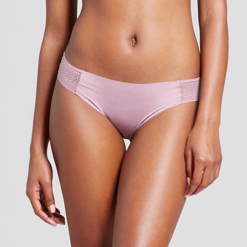 Womens Laser Cut Bikini - Blackberry Cream S