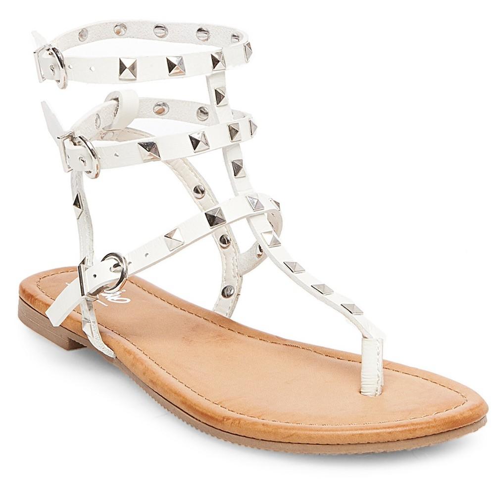Womens Gertie Gladiator Sandals - Mossimo White 8
