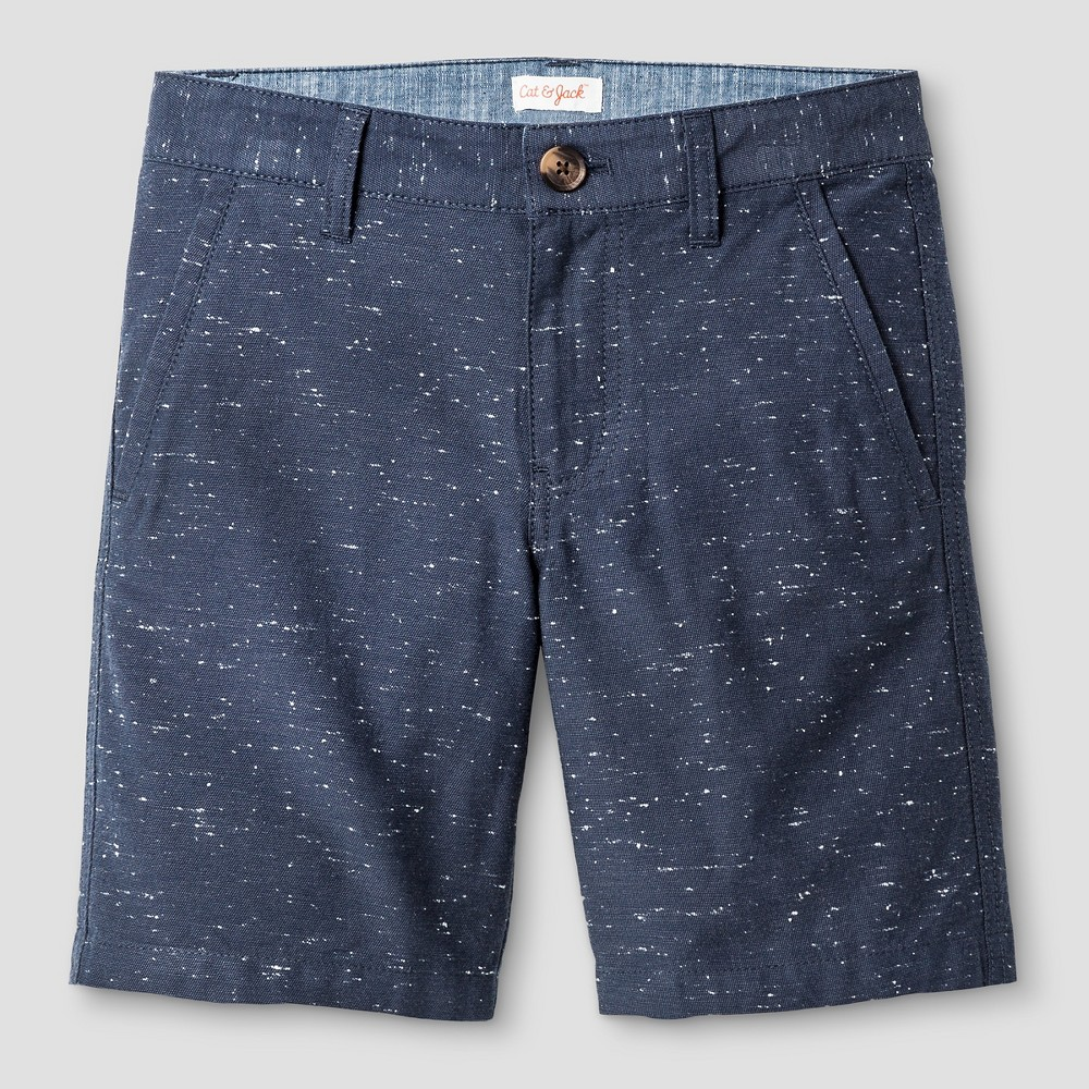 Boys Flat Front Chino Shorts - Cat & Jack Blue Steel 7, Gray