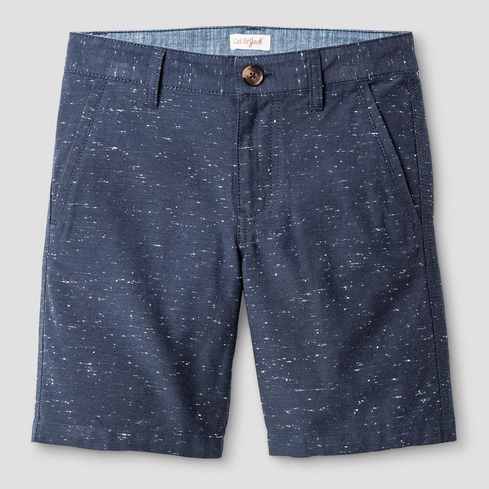 Boys Flat Front Chino Shorts - Cat & Jack Blue Steel 14 Husky, Gray