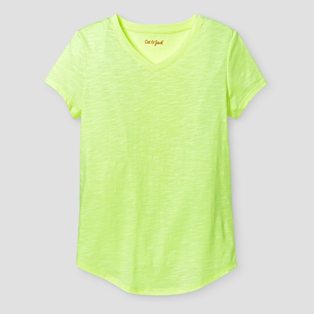 Girls' Favorite Tee Cat & Jack Yellow S, Girl's