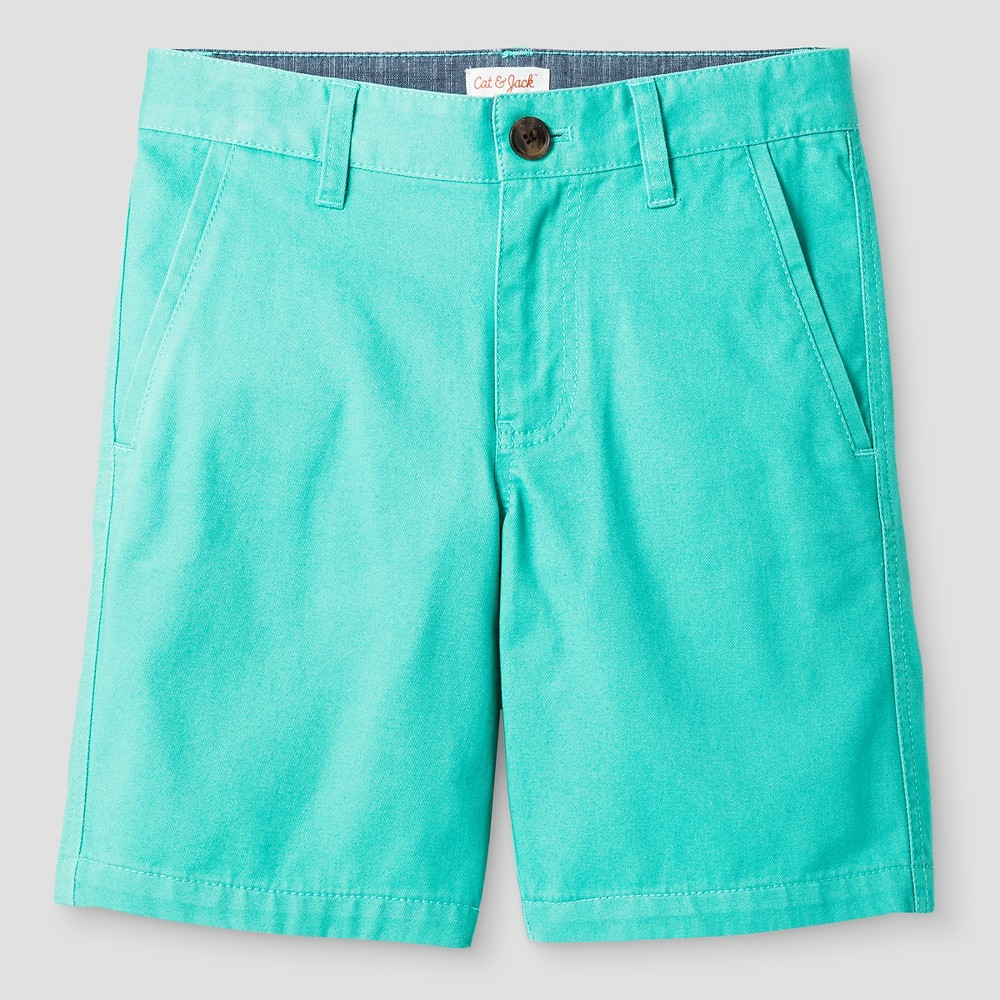 Boys Flat Front Chino Shorts - Cat & Jack Sea Green 16