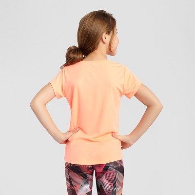 Girls' Graphic Tech T-Shirt Coral XS - C9 Champion, Girl's, Pink