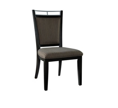 Baines Side Chair (Set Of 2)   Black/Taupe   Oak Grove Collection
