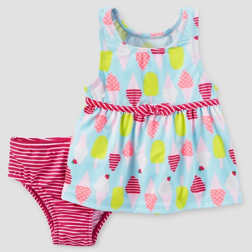 Baby Girls' Two-Piece Tankini Set Ice Cream 12M - Just One You Made by Carter's, Infant Girl's, Size: 12 M, Pink