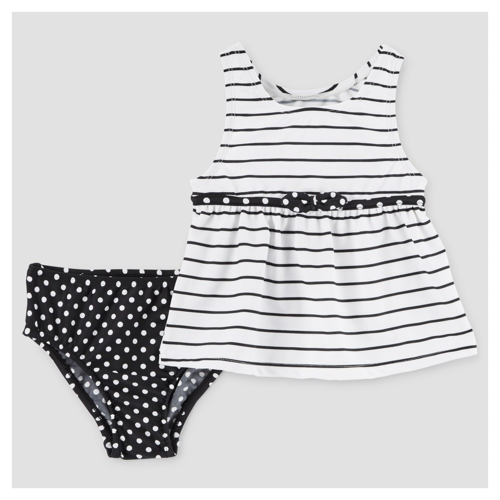Toddler Girls' Two-Piece Tankini Set Black & White 6 – Just One You Made by Carter's, Toddler Girl's