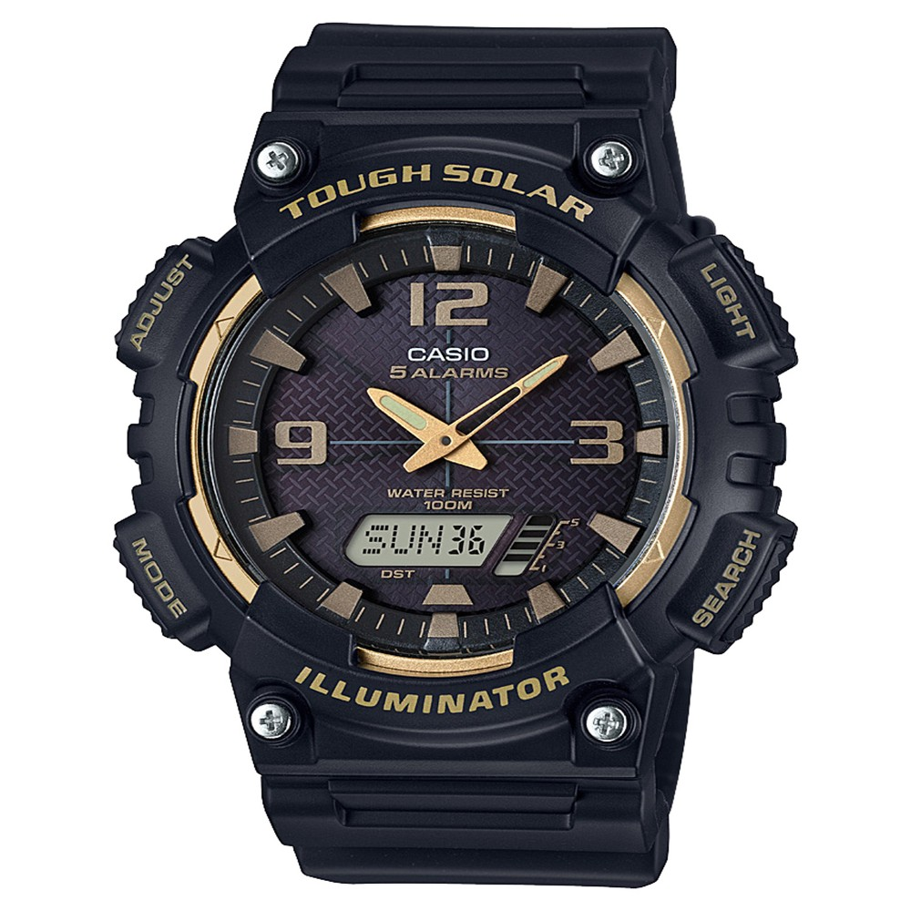 Men's Casio Analog-Digital Watch - Black