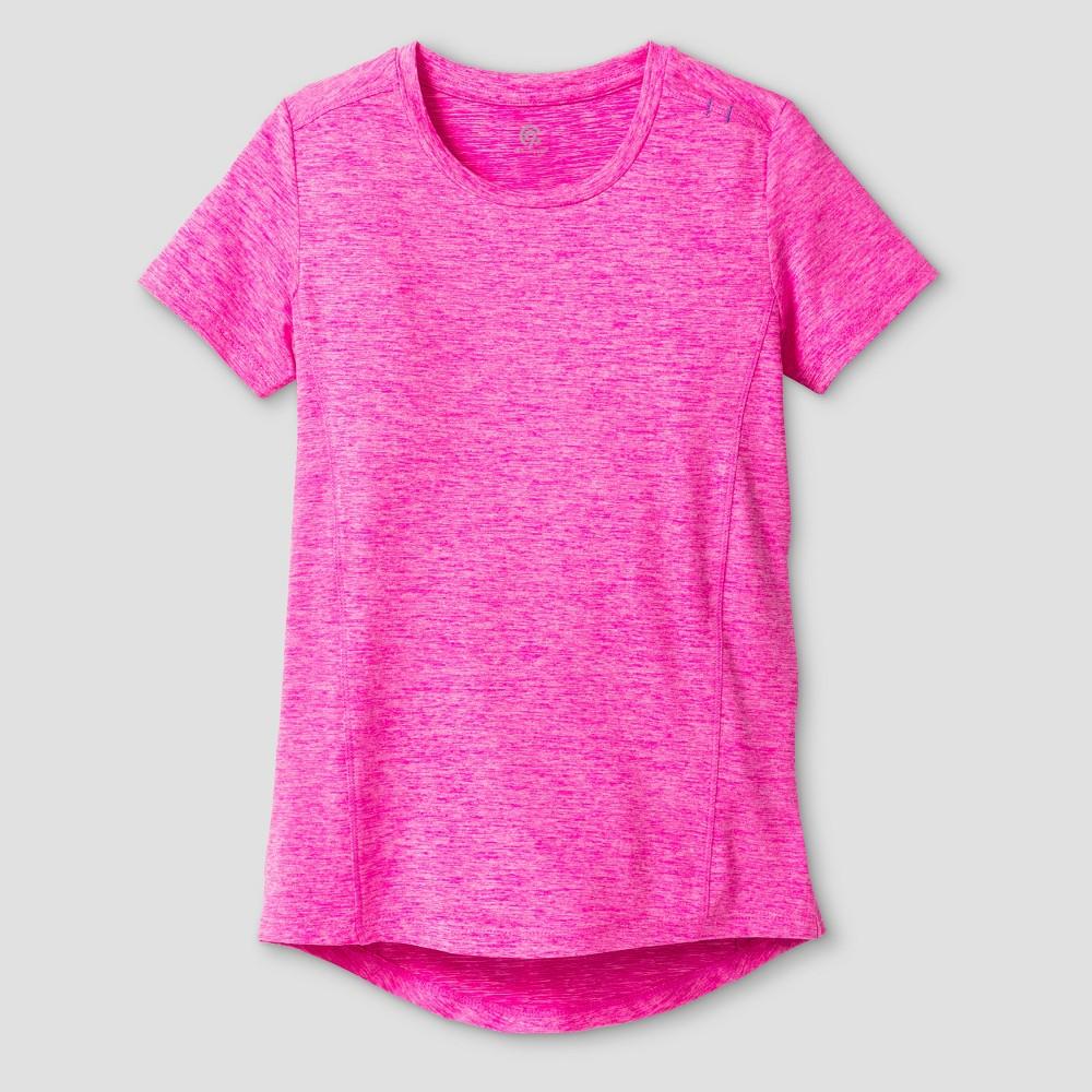 Girls Super Soft Tech T-Shirt Fuchsia (Pink) L - C9 Champion