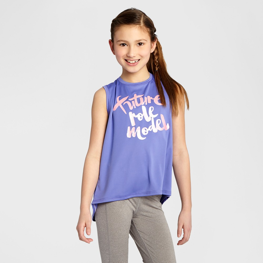 Girls Graphic Muscle Tank - C9 Champion Lavender XL, Purple