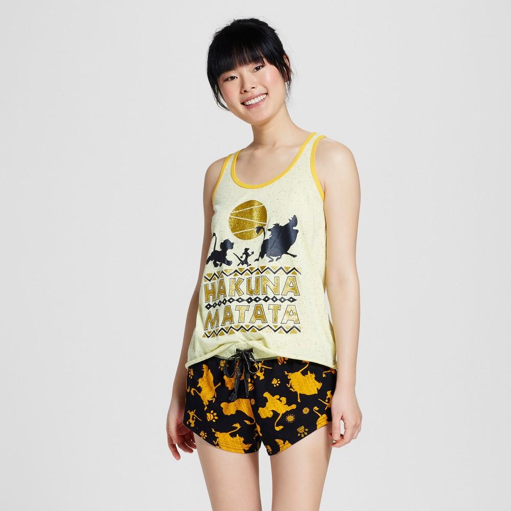 Disney The Lion King Women's Tank/Boxer Pajamas Set - Yellow M