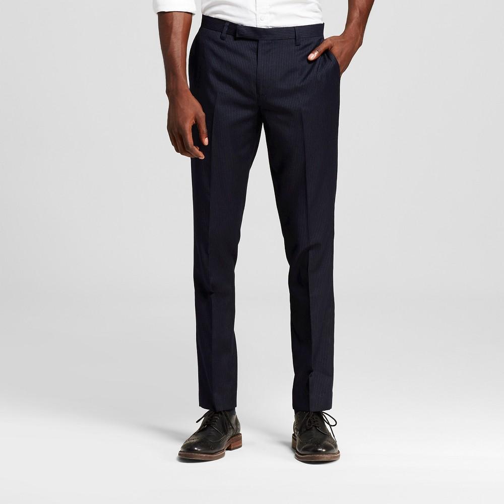 Men's Suit Pants Classic Navy (Blue) 36X32 – WD-NY Black