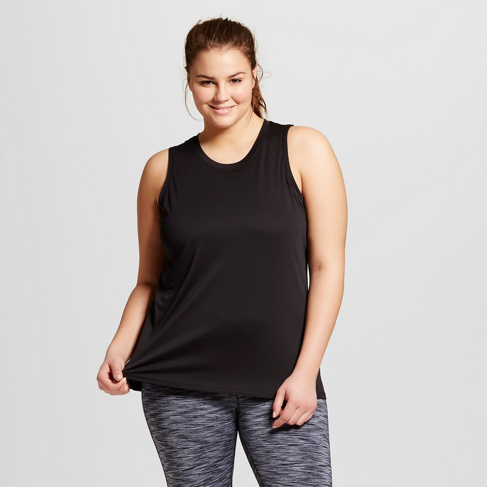 Womens Plus-Size Crew Neck Sleeveless Tech Tank - C9 Champion Black 4X