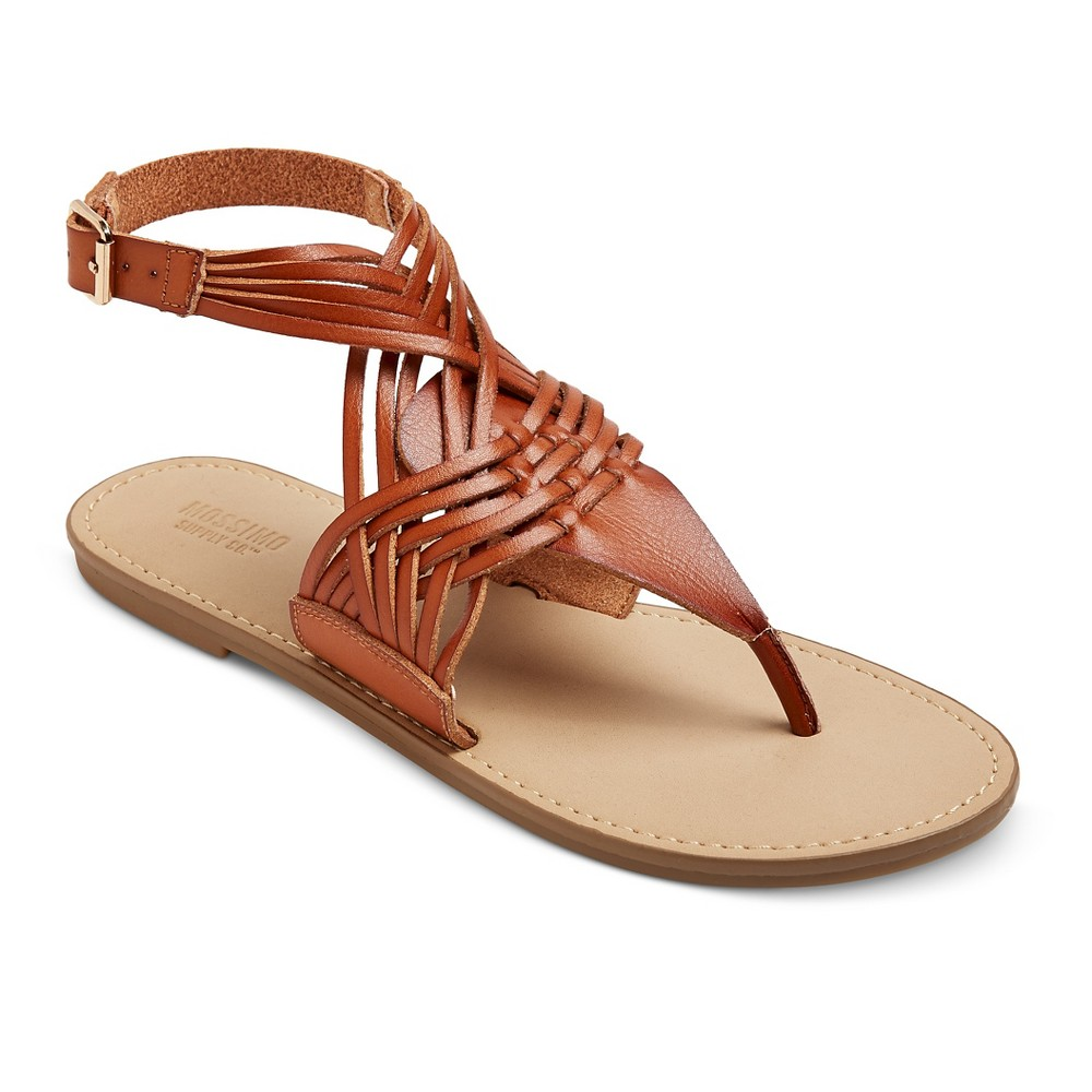 Womens Johanna Huarache Sandals - Mossimo Supply Co. Cognac (Red) 5.5