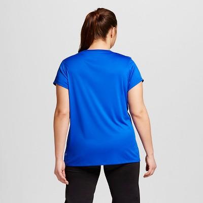 Women's Plus-Size V-Neck Tech Tee - Flight Blue 4X - C9 Champion