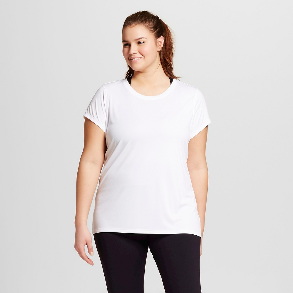 Womens Plus-Size Crew Neck Tech T-Shirt - C9 Champion White 1X