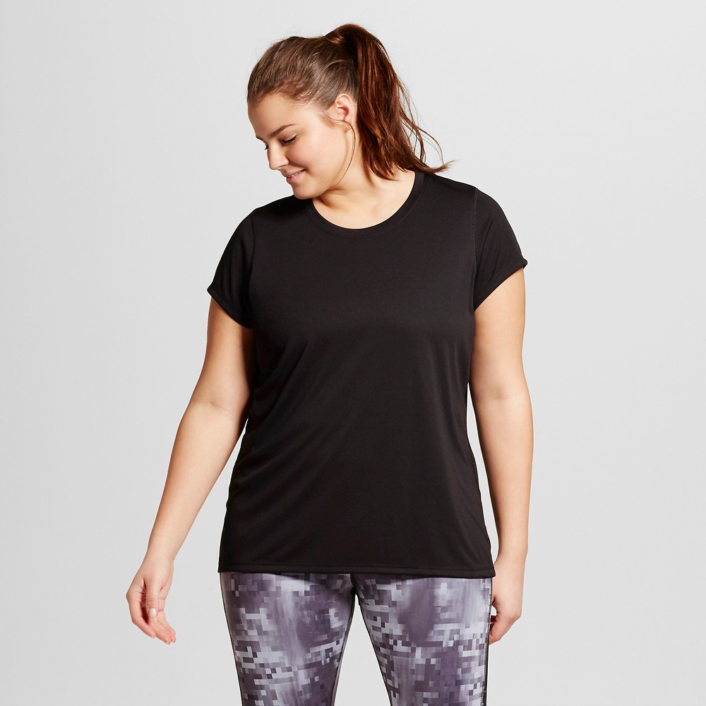 Womens Plus-Size Crew Neck Tech T-Shirt - C9 Champion Black 3X