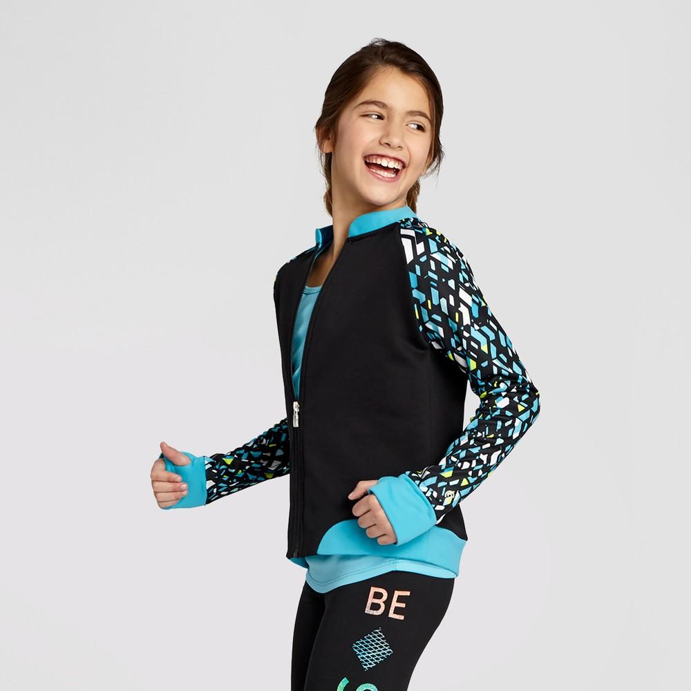 Girls Printed Bomber Jacket - C9 Champion Turquoise S