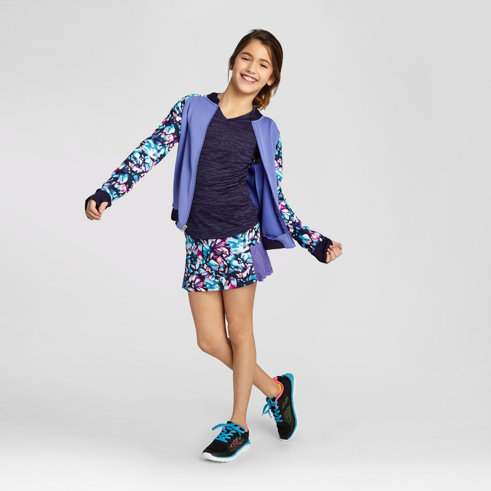 Girls Printed Bomber Jacket - C9 Champion Lavender (Purple) S