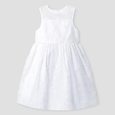 Toddler Girls' Mia & Mimi® A Line Dress - Fresh White 2T