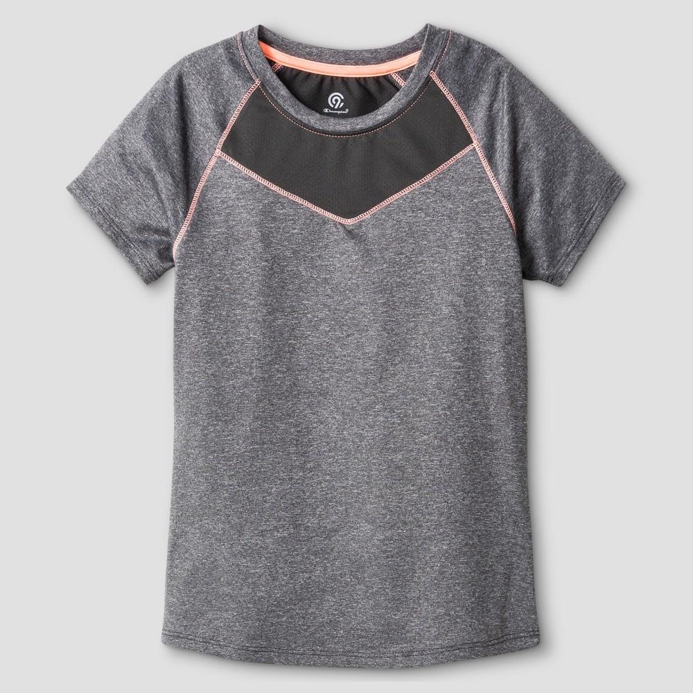 Girls Compression T-Shirt - C9 Champion Gray Heather L
