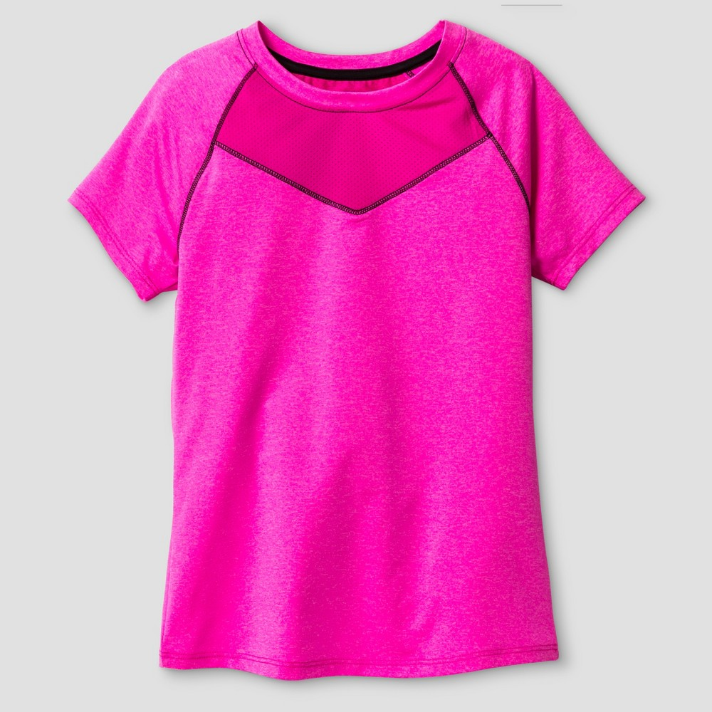 Girls Compression T-Shirt - C9 Champion Fuchsia (Pink) S