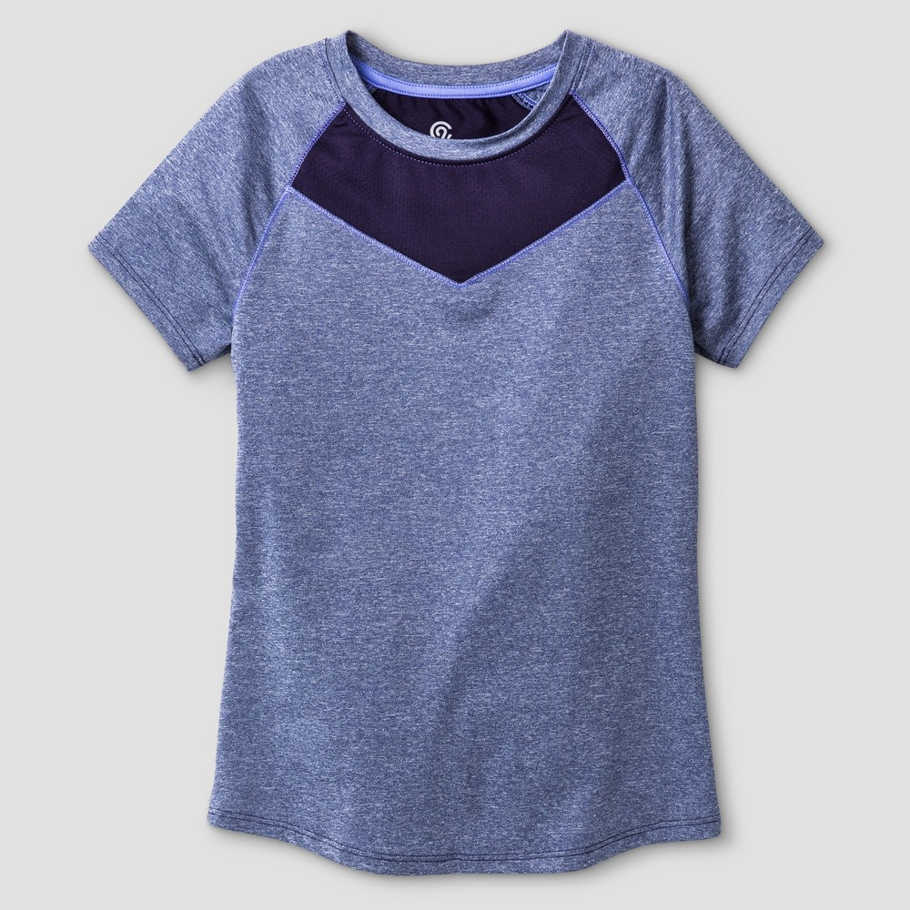 Girls' Compression T-Shirt - C9 Champion Blue S