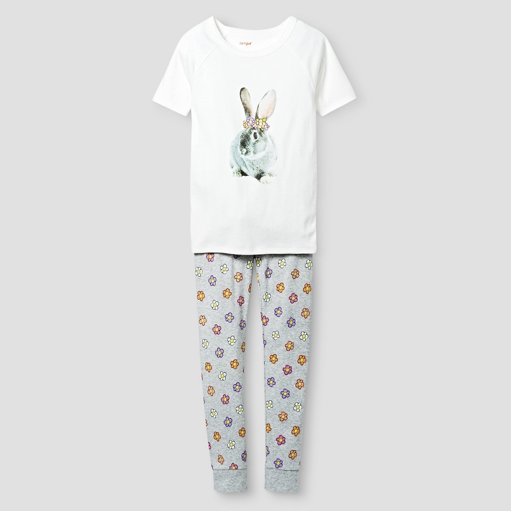 Girls Organic Cotton Pajama Set - Cat & Jack White 6