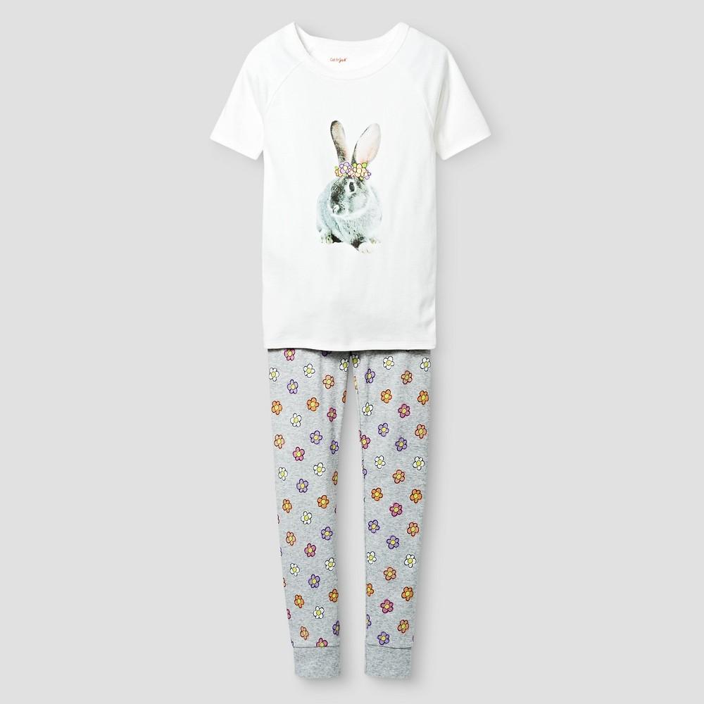 Girls Organic Cotton Pajama Set - Cat & Jack White 4