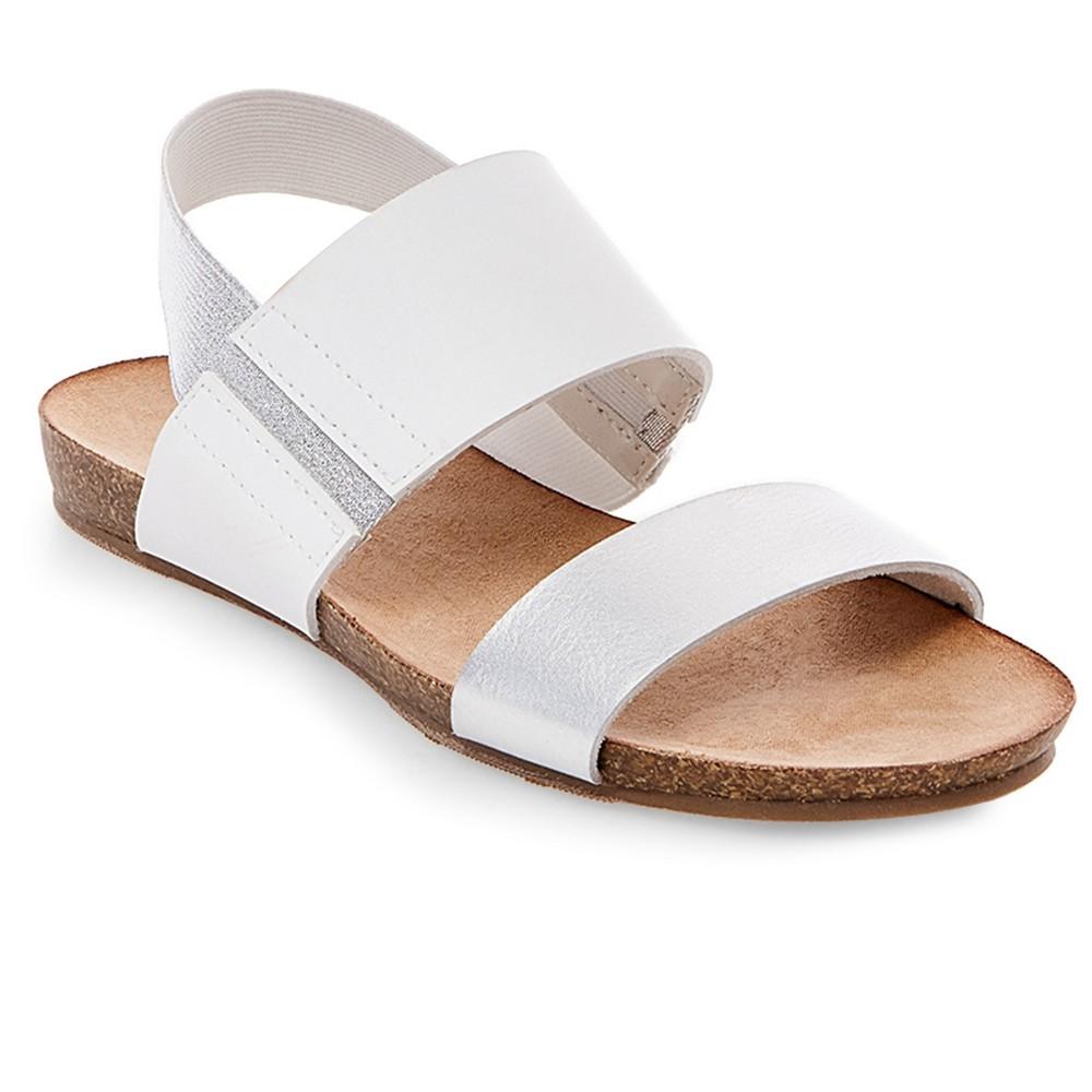 Womens Makenna Quarter Strap Sandals - Merona White 7