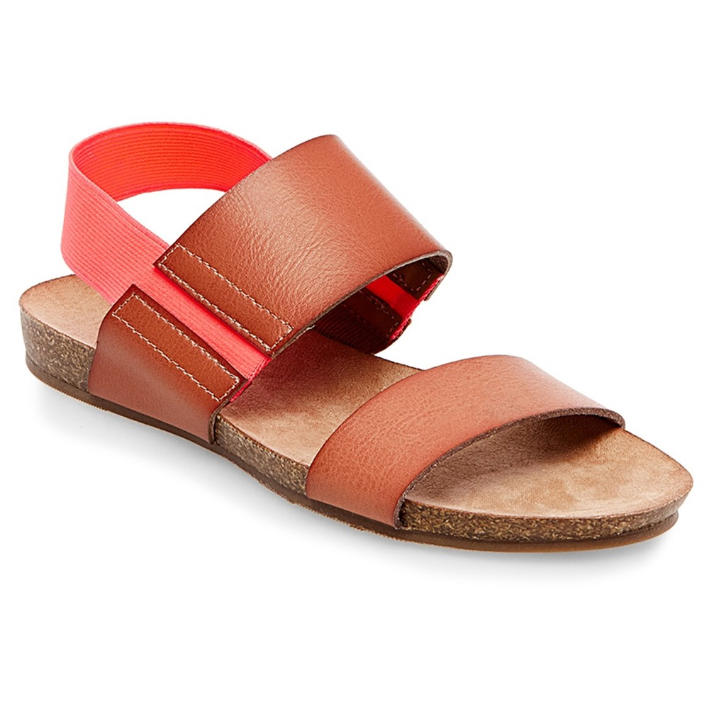 Womens Makenna Quarter Strap Sandals - Merona Cognac (Red) 9.5