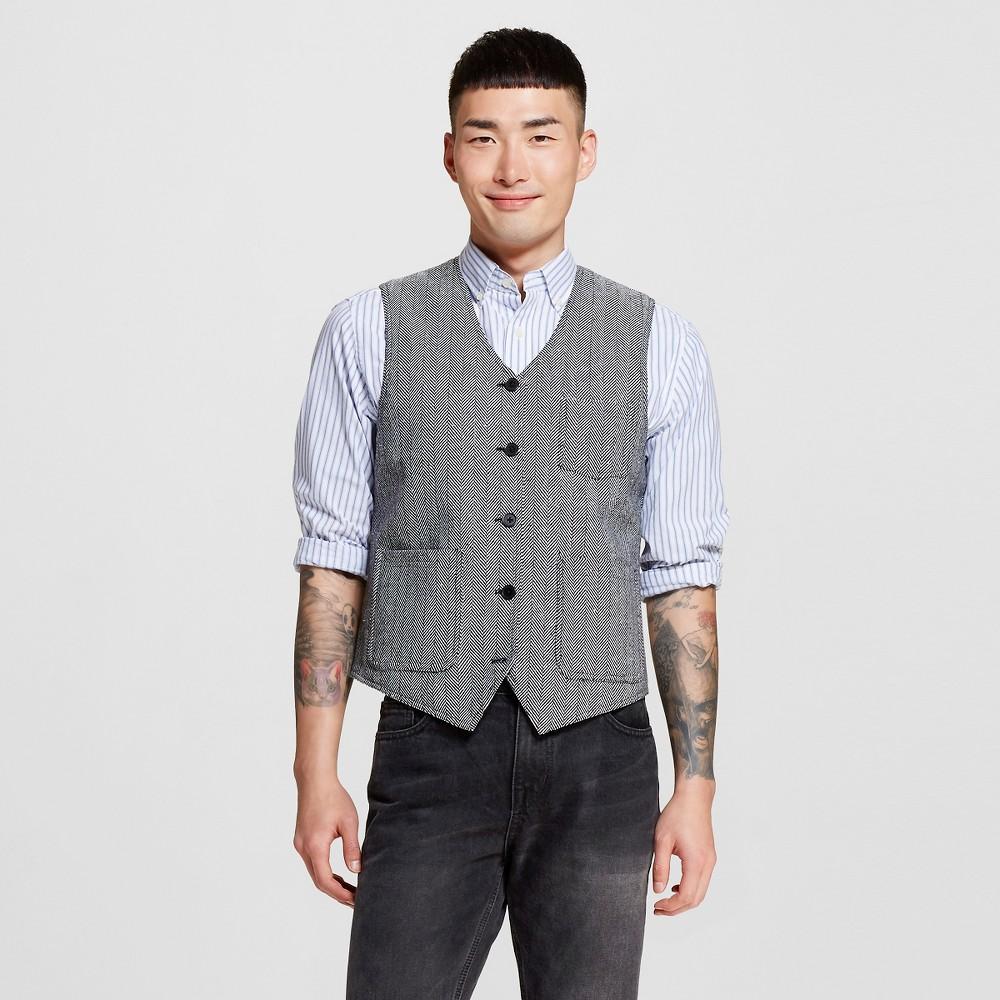 Men's Suit Vests M Oxford – WD-NY Black, Black & Ivory