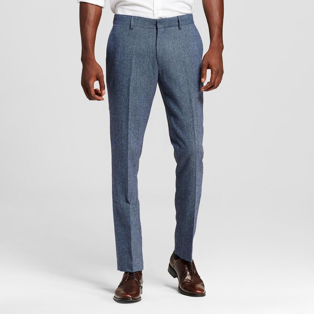 Men's Suit Pants Adriatic Blue 34X30 – WD-NY Black