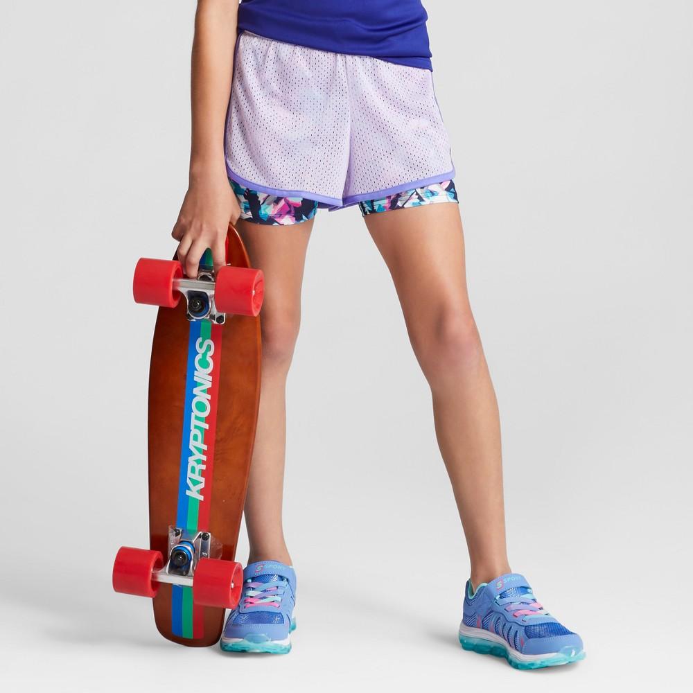 Girls 2-in-1 Mesh Shorts - C9 Champion Lilac (Purple) XL