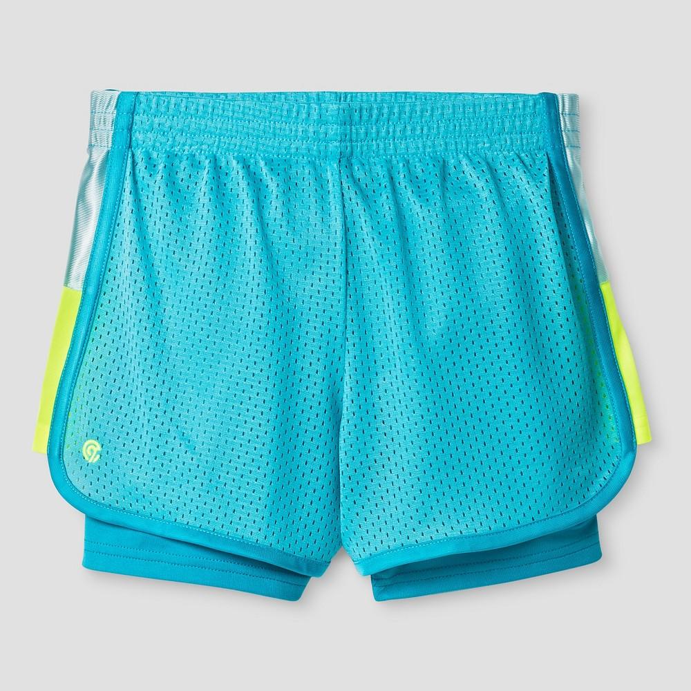 Girls' 2-in-1 Mesh Shorts - C9 Champion Turquoise S