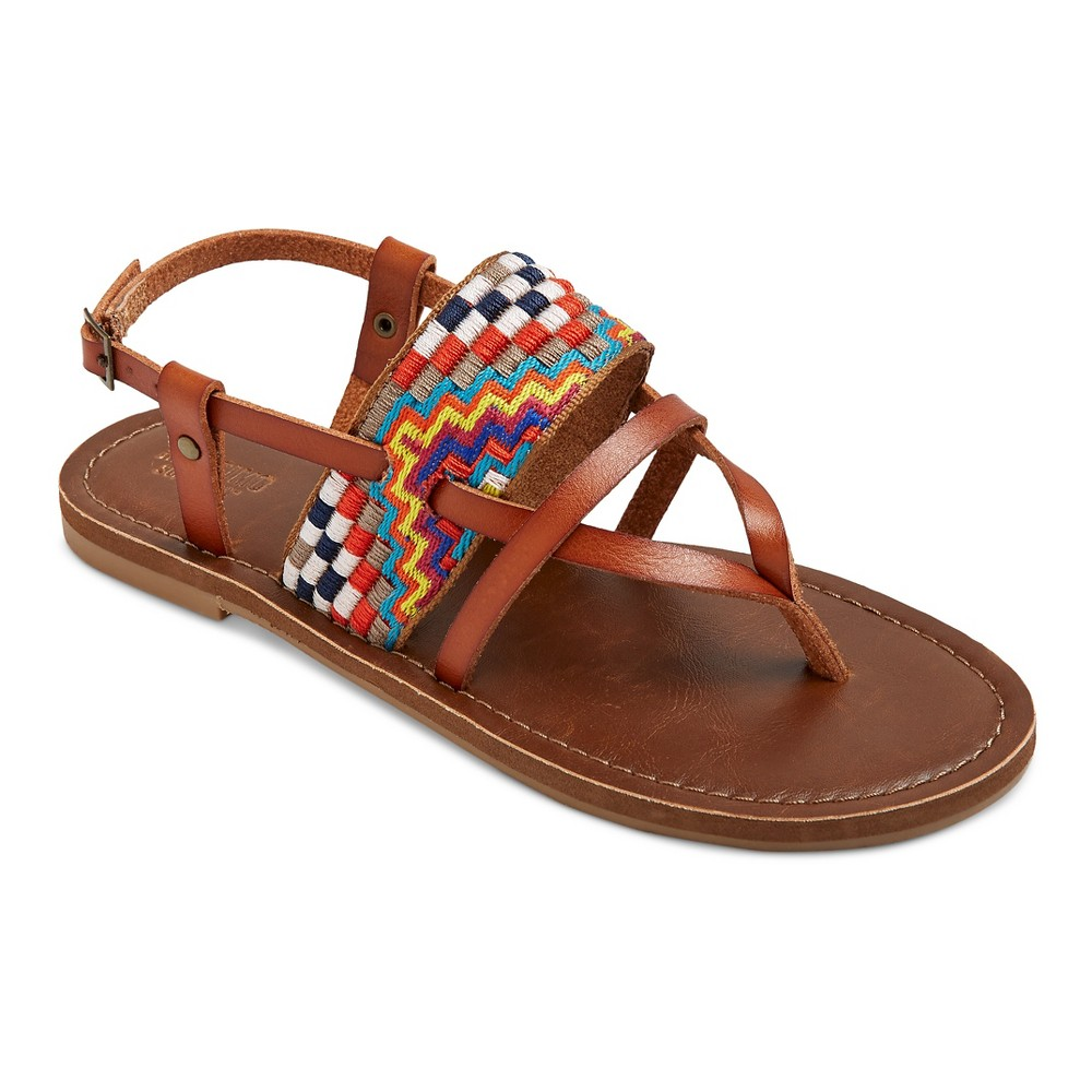 Womens Sonora Thong Sandals - Mossimo Supply Co. Cognac (Red) 6