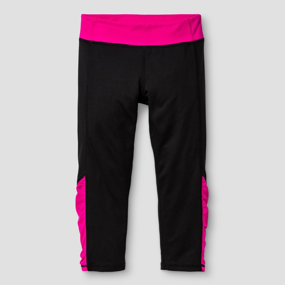 Girls' Ruched Performance Capri Leggings - C9 Champion Black XS